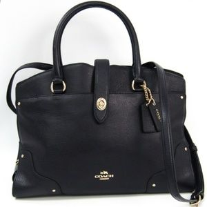 Authentic Coach Mercer in Black w/ Gold HW